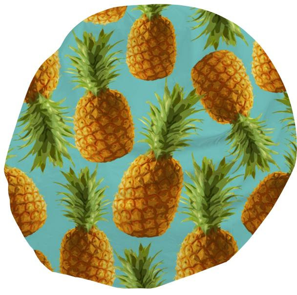 Pineapple Blue Bean Bag