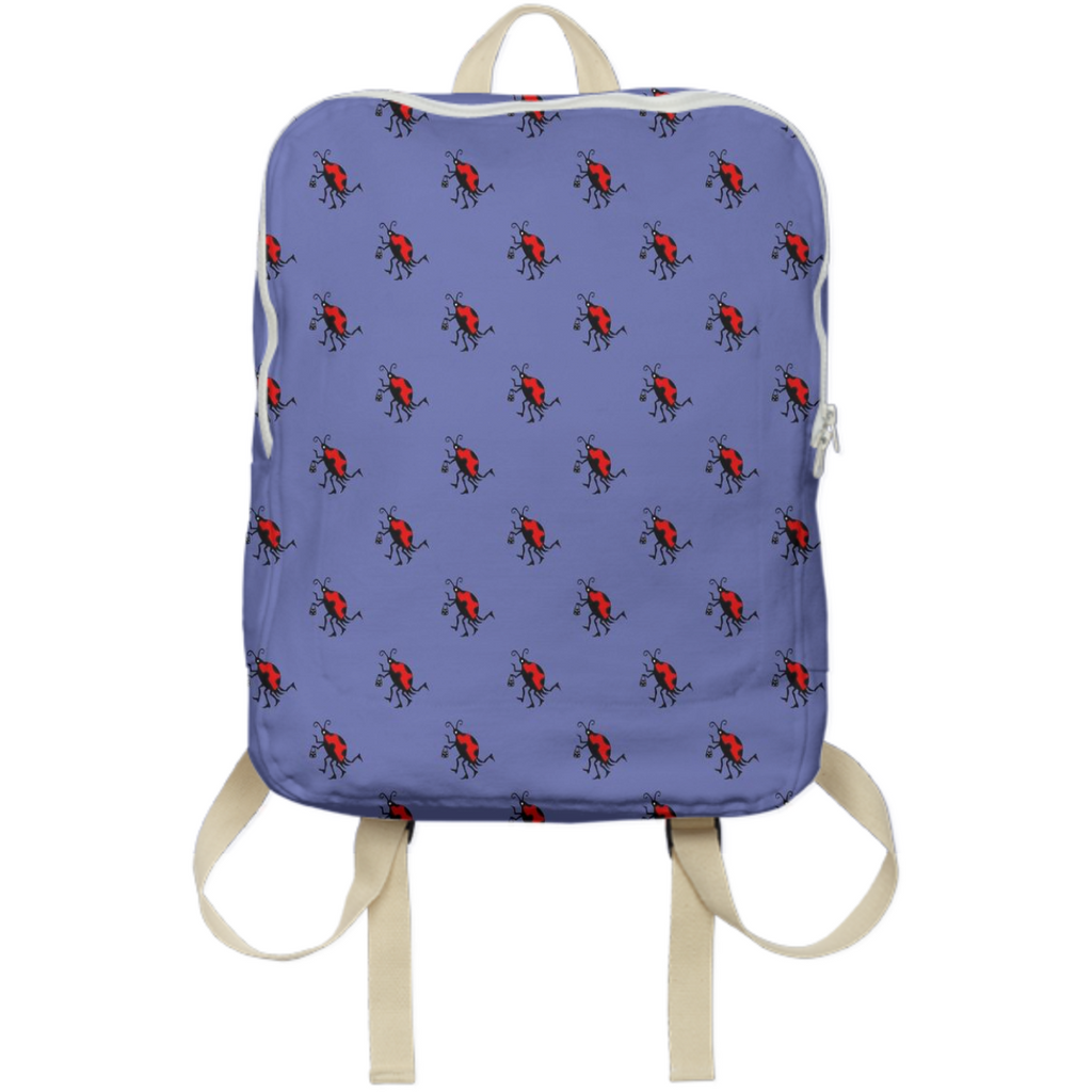 LadyBug on Lavender Backpack