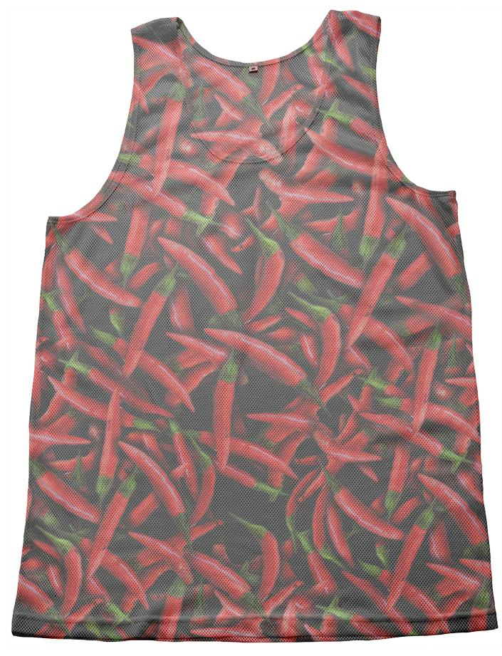 Red Chili Peppers Mesh Tank