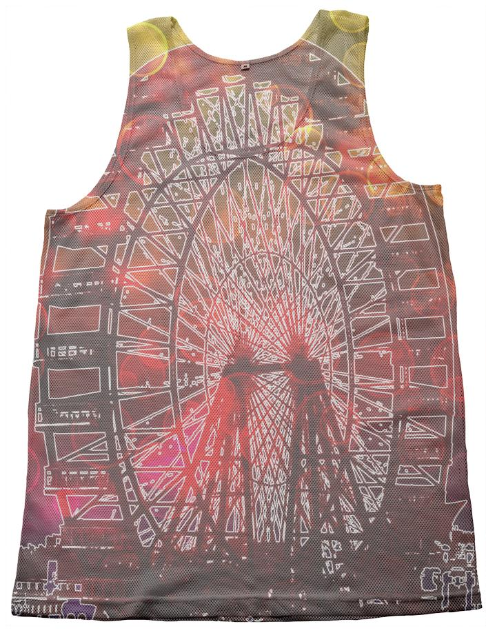 Vintage Worlds Fair Ferris Wheel Mesh Tank