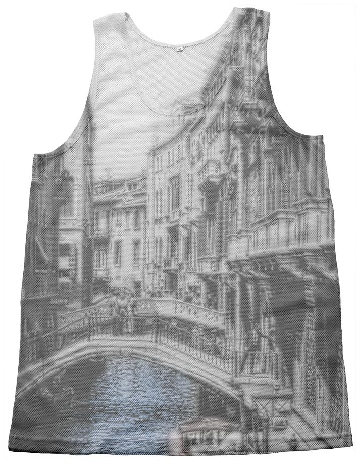 Vintage Venice Canal Mesh Tank