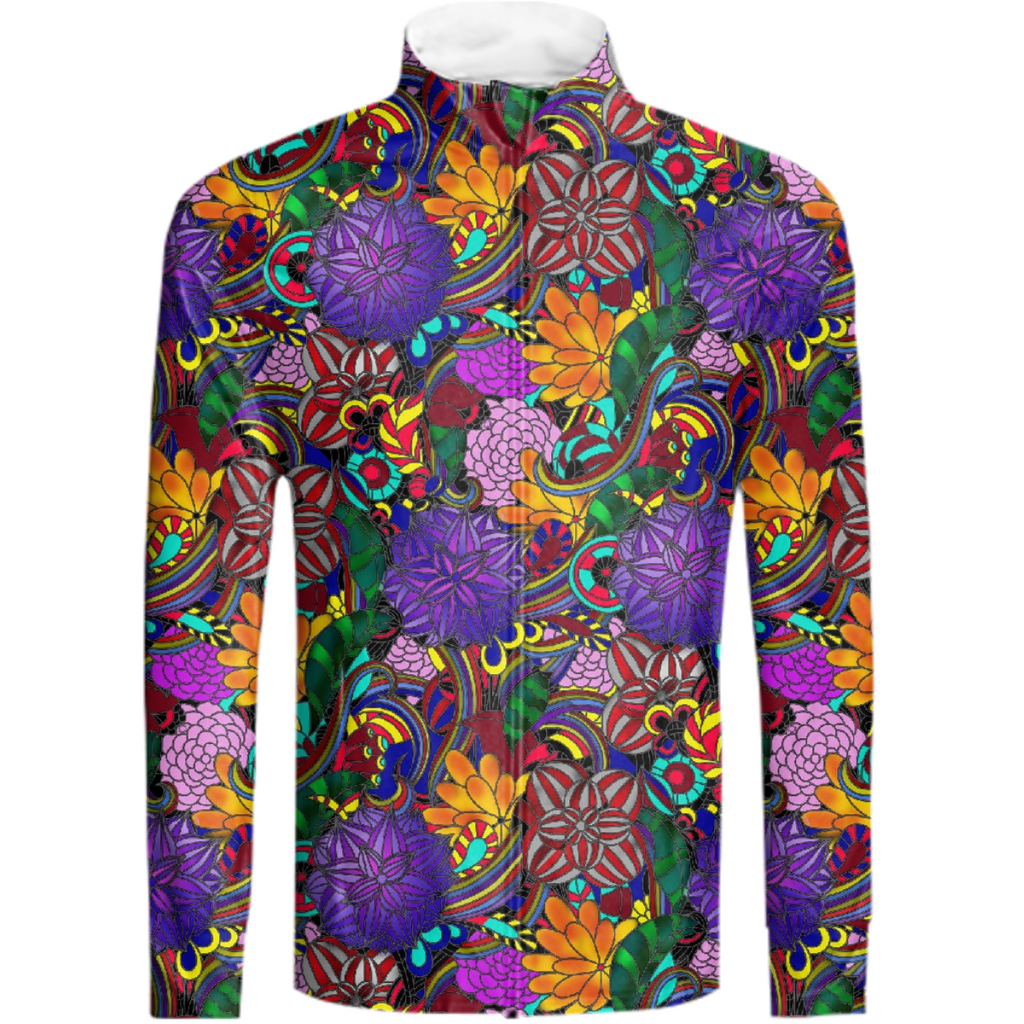 Flowers and Rainbows Tracksuit Jacket