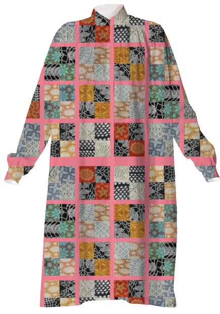 Patchwork Shirt dress