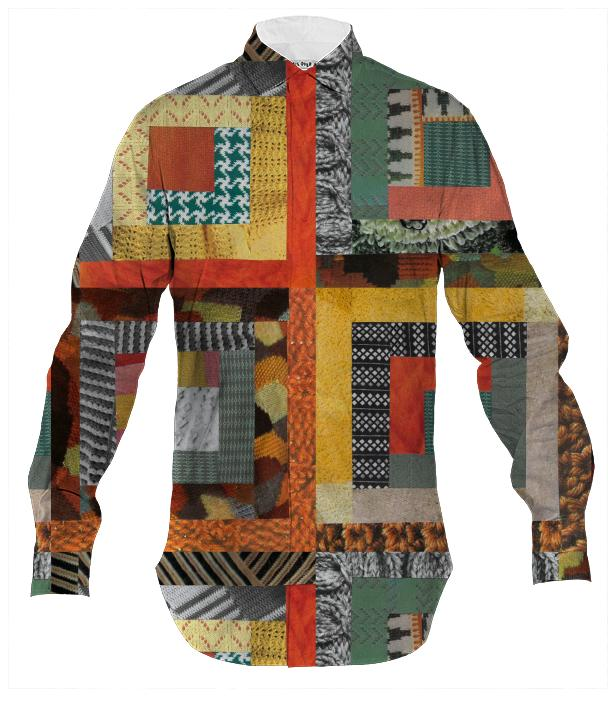 Patchwork collage Men s Shirt
