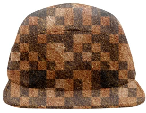 Brown Rock Pixel Hat
