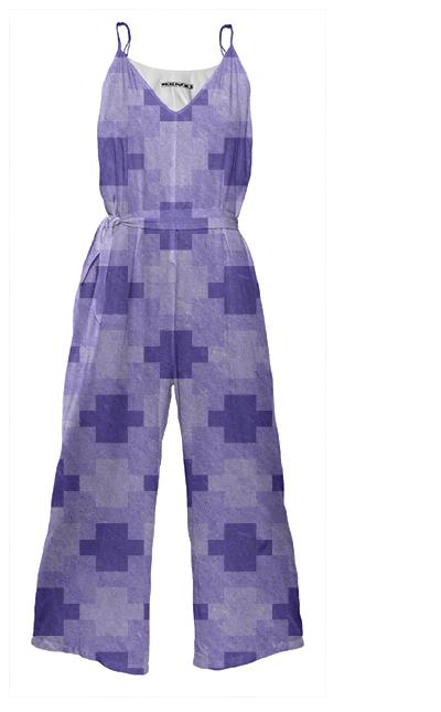 Blue Blocks Pixel Jumpsuit