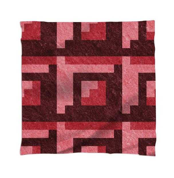 Red Brick Pixel Scarf