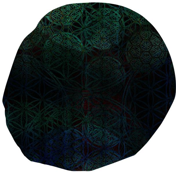 Bluegreen Flower of Life Beanbag