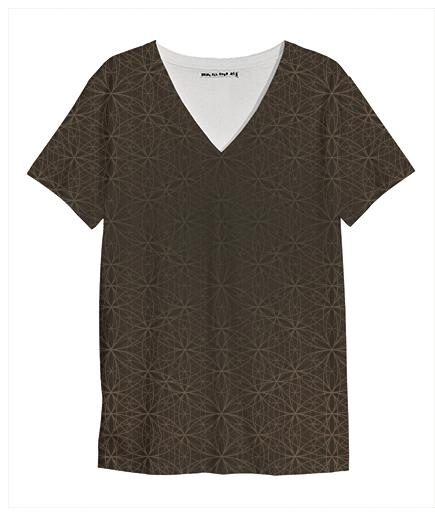 Flower of Life Pattern Brown T