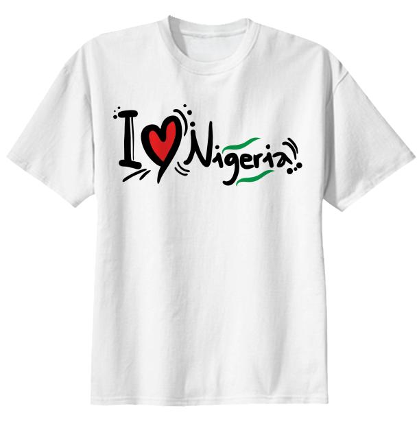 I Love Nigeria T Shirt