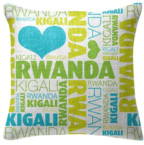 Rwanda Throw Pillow