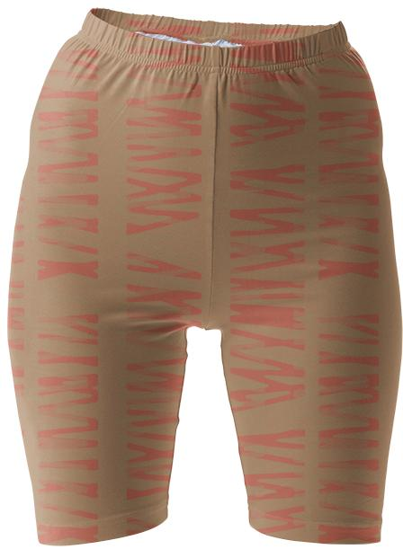 Putty and Coral Bike Shorts