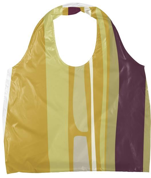 Gold and plum strata Eco Tote