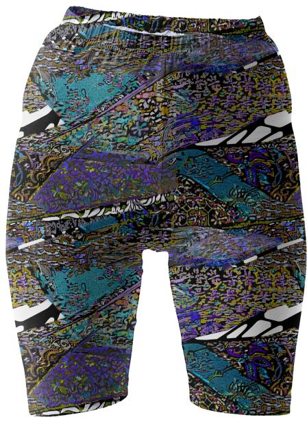 Conglomerate Blue Bike Shorts