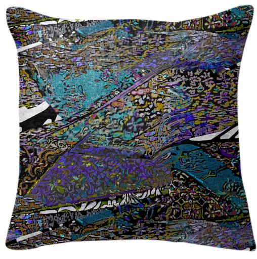conglomerate blue pillow