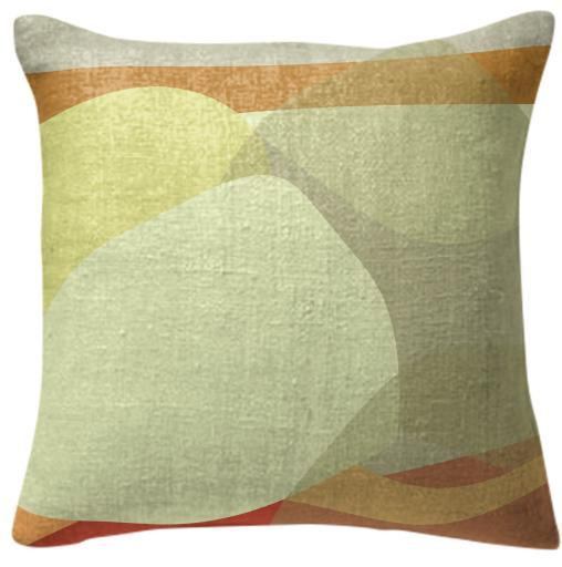 Taupe Tan Landscape Pillow