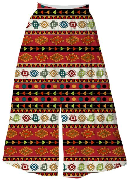 Abstract Ethnic pattern in vivid colors