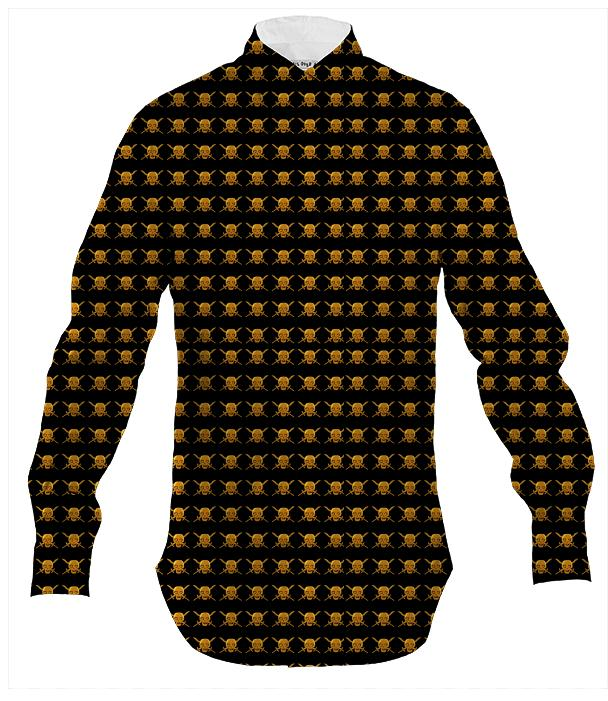 black n gold shirt