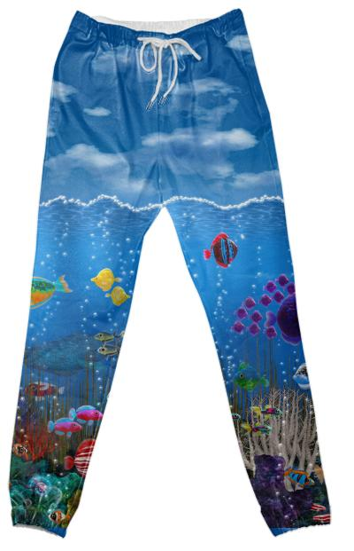 Underwater Love Cotton Pants