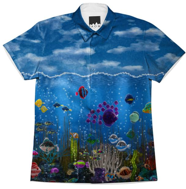 Underwater Love Short Sleeve Workshirt