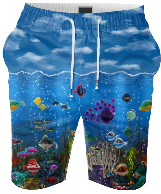 Underwater Love Summer Shorts