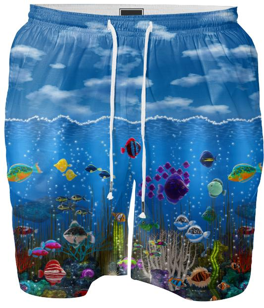 Underwater Love Swim Shorts