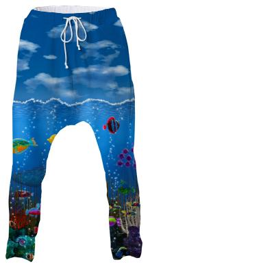 Underwater Love Drop Pants