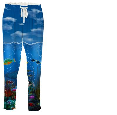 Underwater Love Drawstring Pants