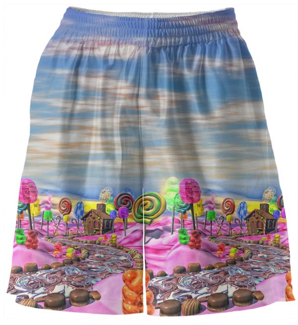 Pink Candyland Basketball Shorts