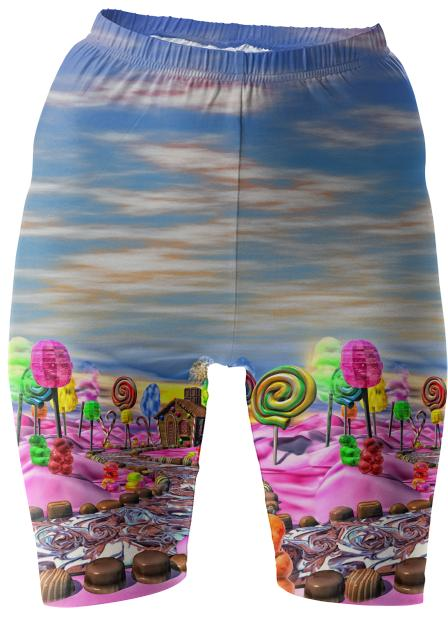 Pink Candyland Bike Shorts