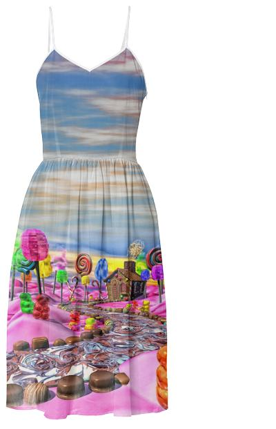 Pink Candyland Summer Dress