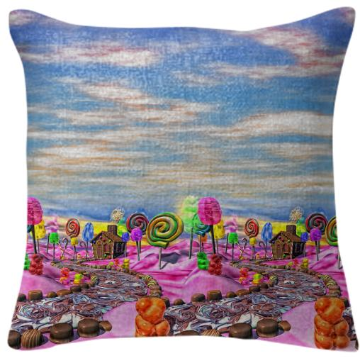 Pink Candyland Pillow