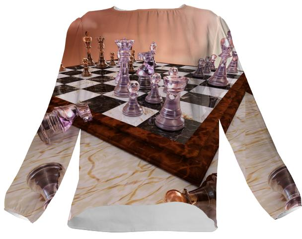 A Game of Chess Silk Top