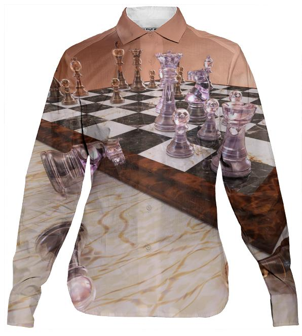 A Game of Chess Women s Button Down