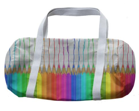 Melting Rainbow Pencils Duffle Bag