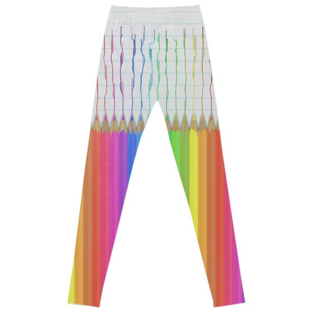 Melting Rainbow Pencils Leggings