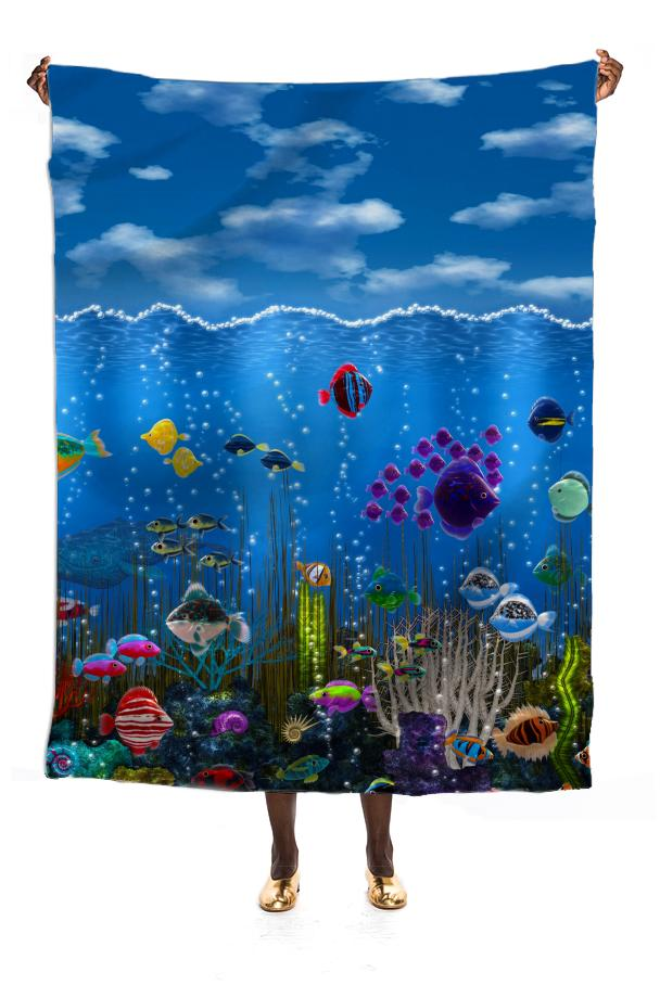 Underwater Love Silk Scarf