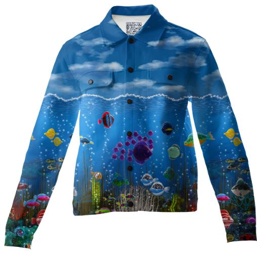 Underwater Love Twill Jacket
