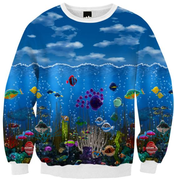 Underwater Love Ribbed Sweatshirt