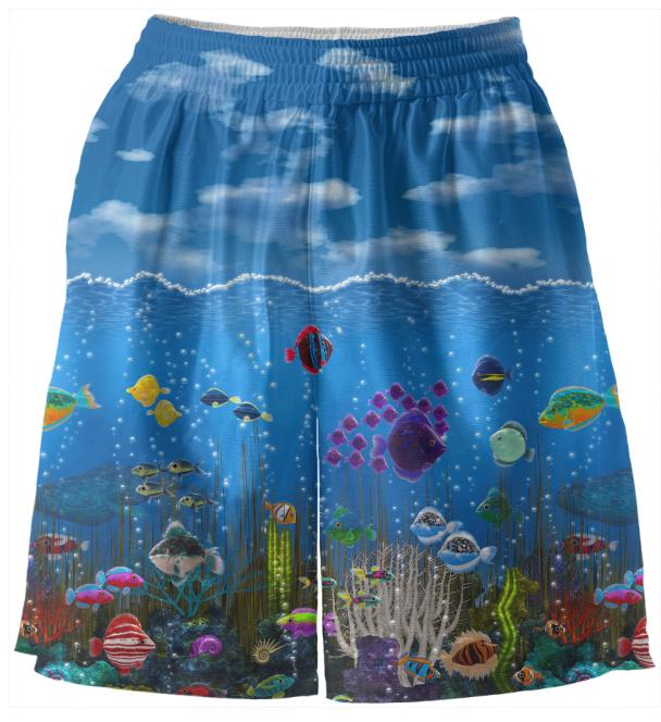 Underwater Love Basketball Shorts