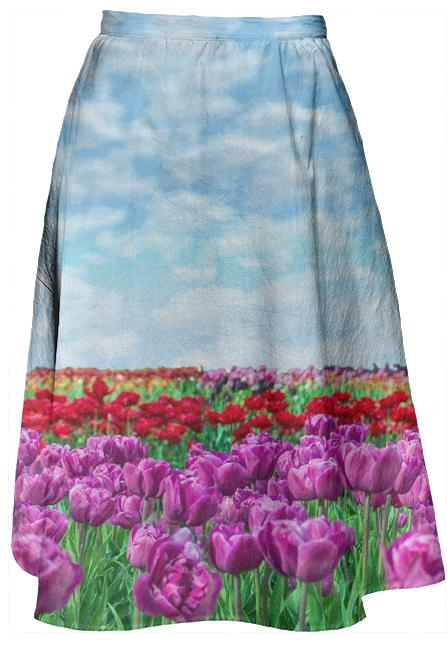 Tulip Field Midi Skirt