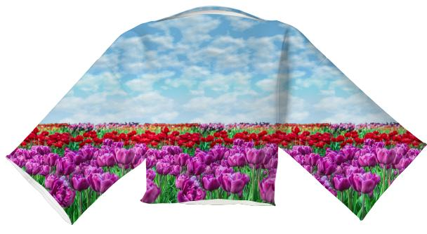 Tulip Field Neoprene Block Top