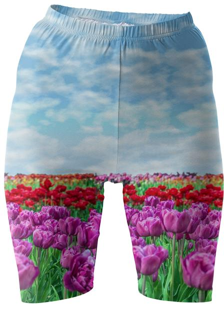 Tulip Field Bike Shorts