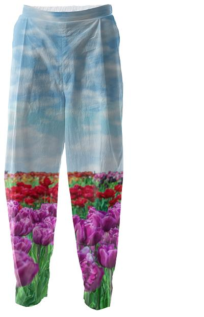 Tulip Field Relax Pants