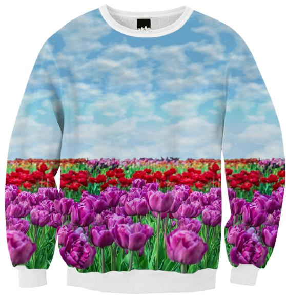 Tulip Field Ribbed Sweatshirt