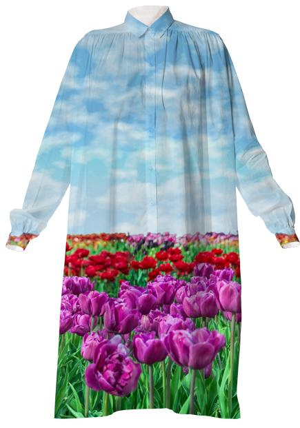 Tulip Field Shirtdress