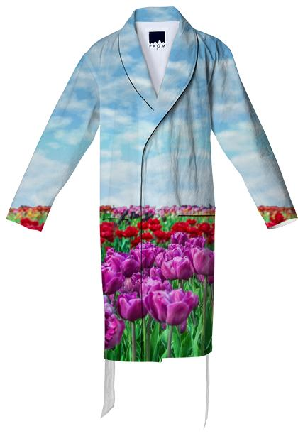 Tulip Field Bathrobe