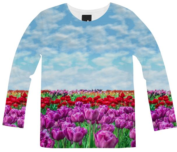 Tulip Field Long Sleeve Shirt