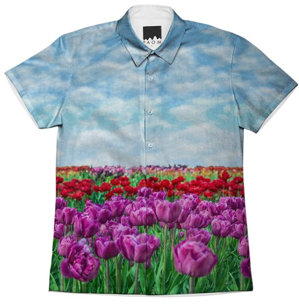 Tulip Field Short Sleeve Workshirt
