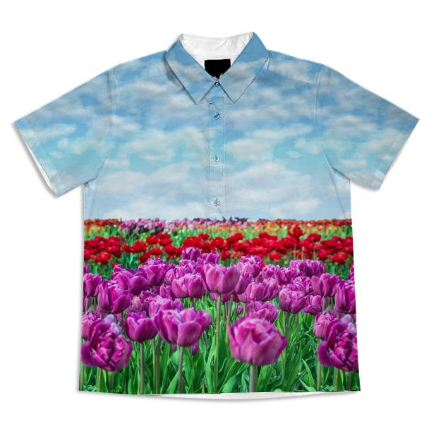 Tulip Field Short Sleeve Blouse